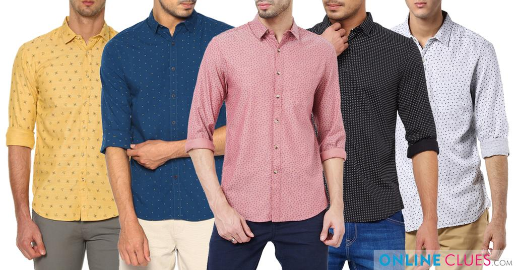 London Looks Multicolor 5 Printed Cotton Shirts