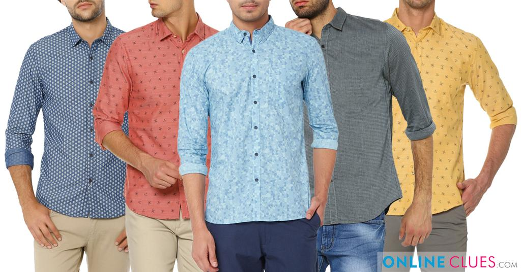 Branded London Looks 5 Printed Cotton Shirts