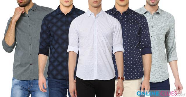 London Looks 5 Printed Cotton Full Shirts