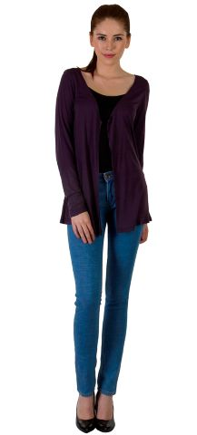 Rigo Purple Viscose Shrug