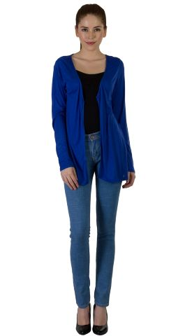 Rigo Blue Viscose Shrug