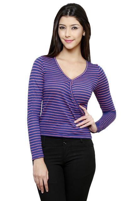 Rigo Blue Striped Top