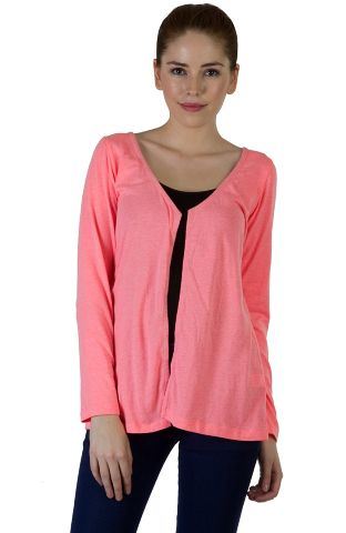 Rigo Pink Solid Shrug