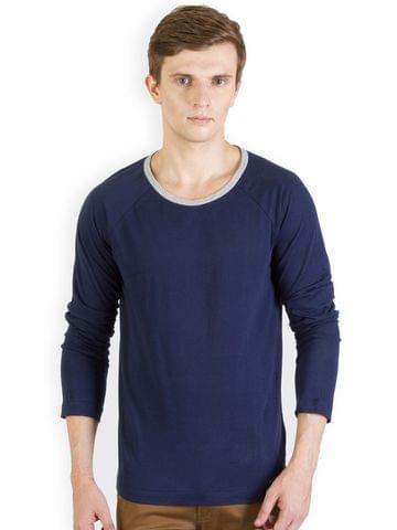 RIGO Navy Raglan Slim T shirt