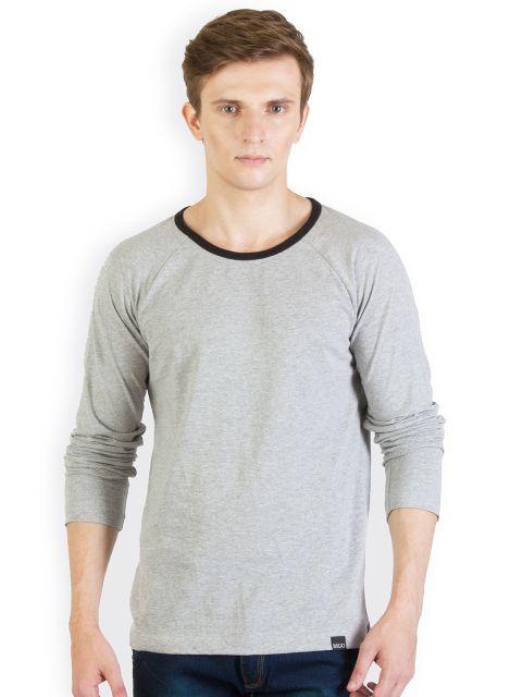 RIGO Grey Melange Raglan Slim T shirt