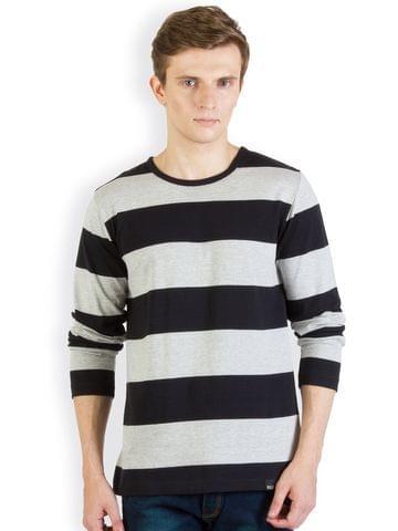 RIGO Black and Grey Striped T shirt