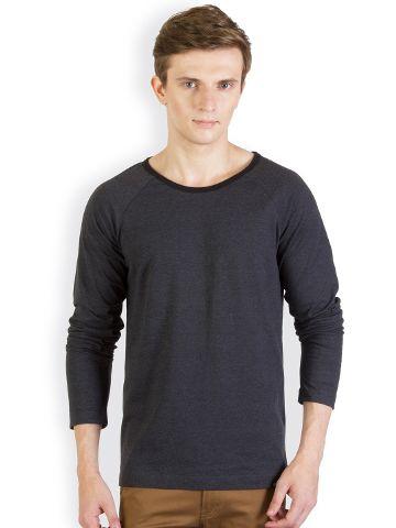 RIGO Charcoal Raglan Slim T shirt