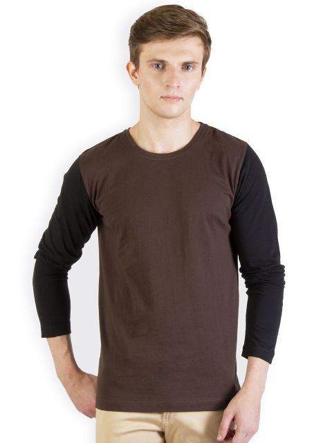 RIGO Brown T shirt Black Sleeve
