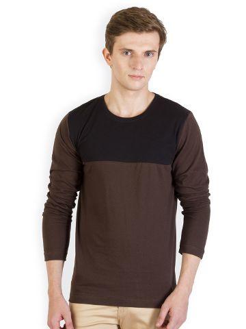 RIGO Brown Tshirt Black Yoke