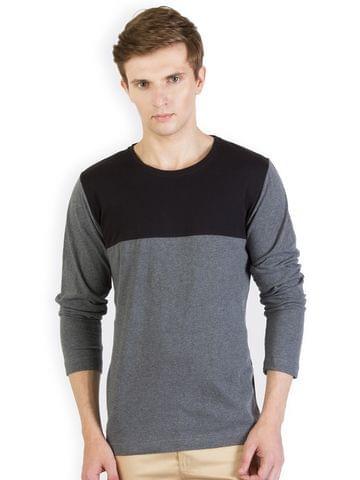 RIGO Charcoal Tshirt Black Yoke