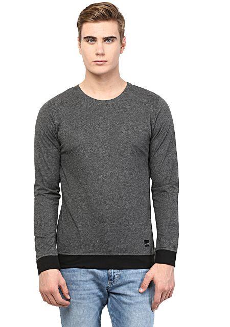 RIGO Charcoal T shirt Black Cuff