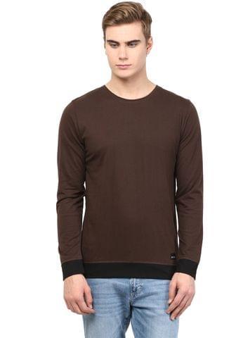 RIGO Brown T shirt Black Cuff