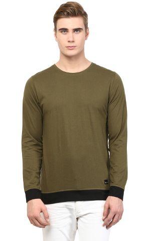 RIGO Army Green T shirt Black Cuff