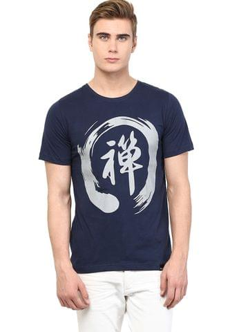 RIGO Navy Chinese Printed Tee Short