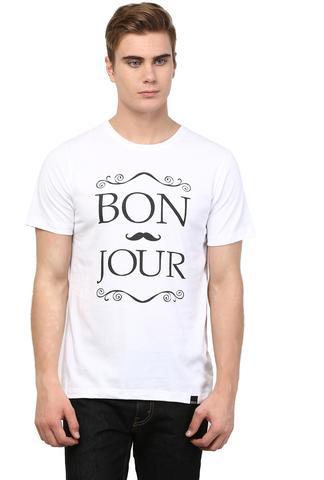 RIGO White Bonjour Printed Tee Short