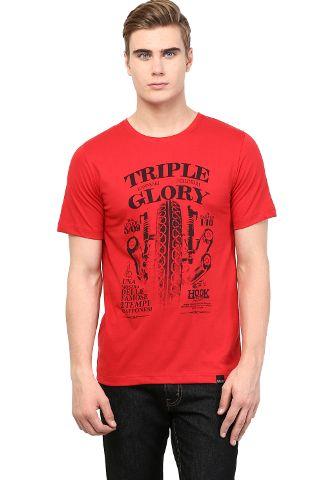 RIGO Red Triple Glory Printed Tee Short
