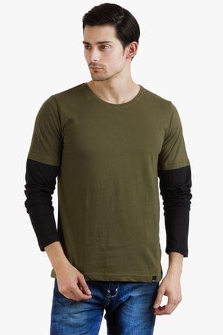 RIGO Cool Army Green Tee Black Sleeve