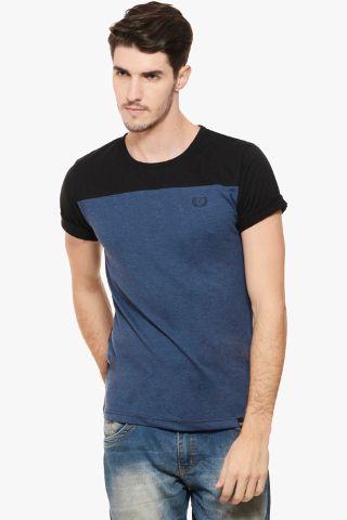RIGO Blue Melange Black Tee Short