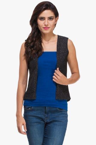 Black Shimmer Jacket Shrug