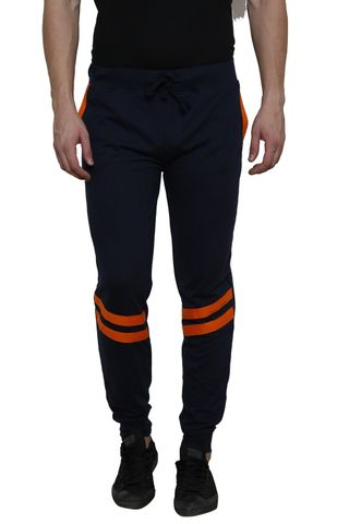 Navy Solid with orange stripe Detailing SlimFIt Jogger