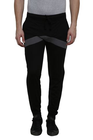 Black Solid with Dark Grey Detailing SlimFIt Jogger