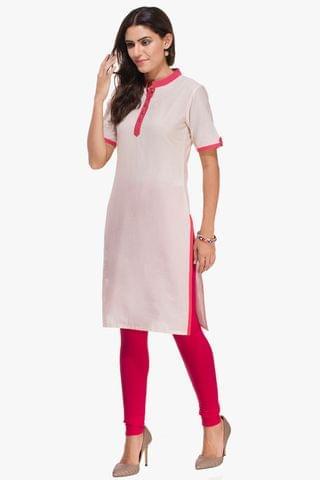 Patola White And Pink Kurta