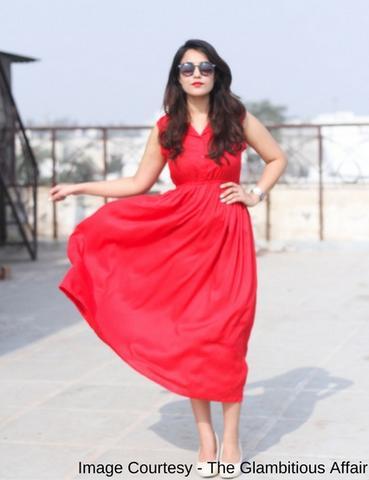 Bright Red Shirt Sleeveless maxi dress