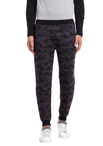 Charcoal Camouflage Print French Terry SlimFIt Jogger