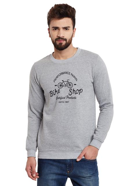 Bike Shop Grey Melange Fleece Sweatshirt