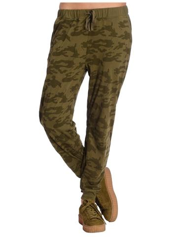 Khaki Camouflage Print Jogger