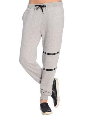 Grey Jogger with Zip Detailing