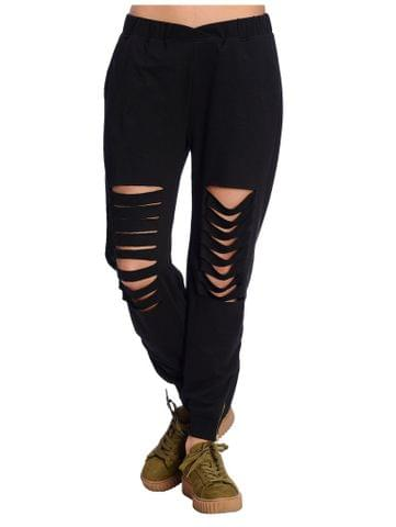 Black Distressed Jogger