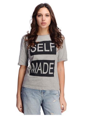 Self Made Print Grey Tshirt