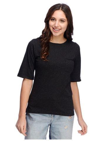 Textured Black Tshirt