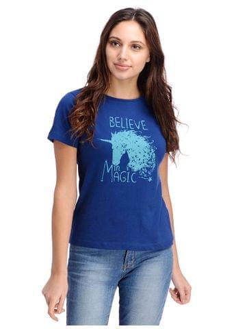Unicorn Print Blue Tshirt