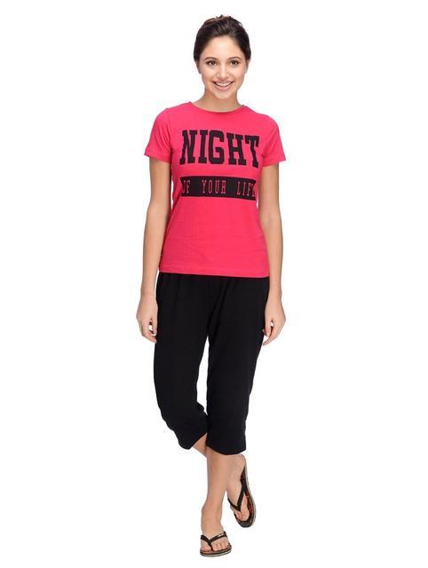 Printed Night Wear Set