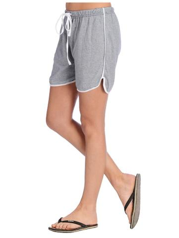 Blue and White Slub Shorts