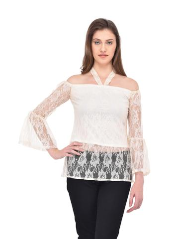 off shoulder Lace Top for women