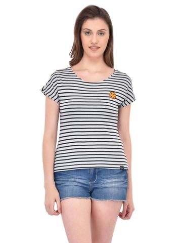 Black Stripe Tee for women