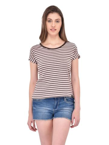 Brown Stripe Tee for women