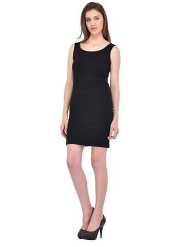 Black Sleevless Bodycon Dress for women