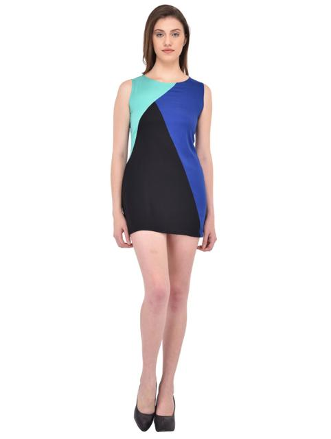Multi Color Block Shift Dress for women