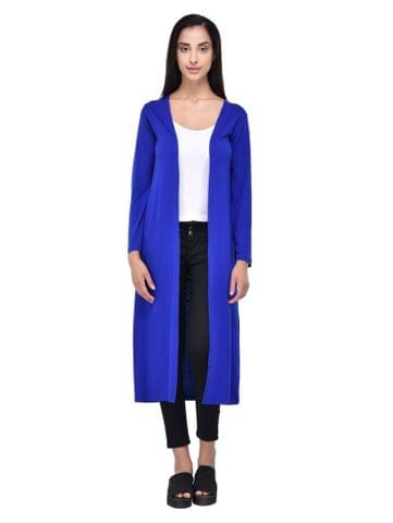 Solid Royal Blue Maxi Shrug for women