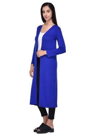 Solid Royal Blue Maxi Shrug for women