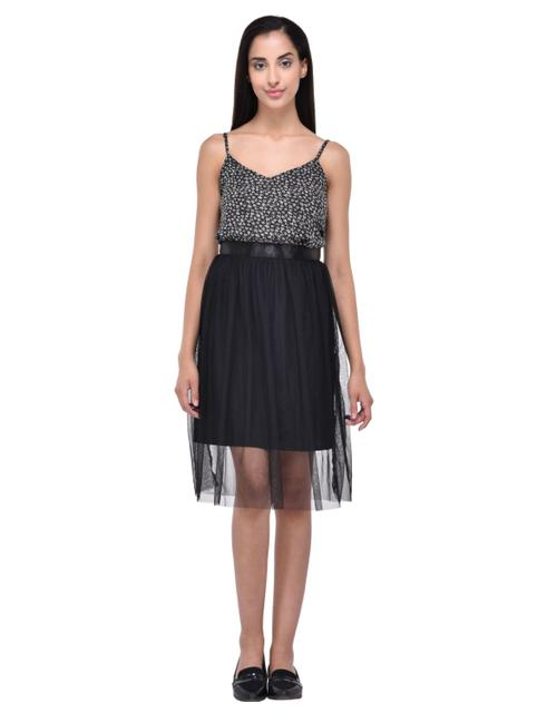 Black Mesh Tulle Skirt for women