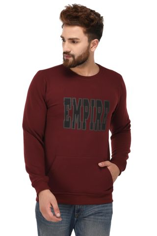 Rigo Maroon Cotton Sweatshirt for Men