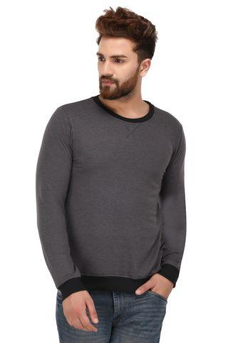 Rigo Charcoal Cotton Sweatshirt for Men