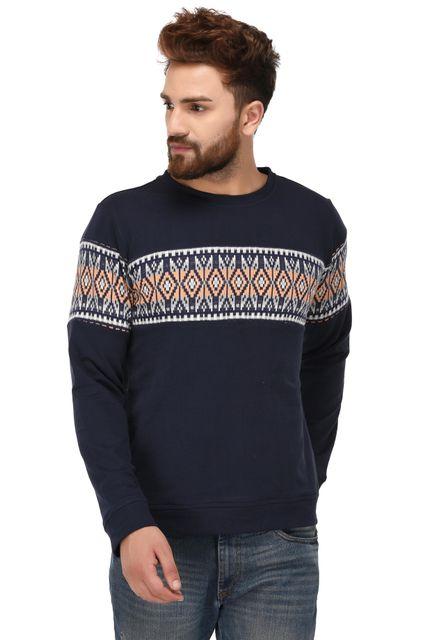 Rigo Blue Cotton Sweatshirt for Men