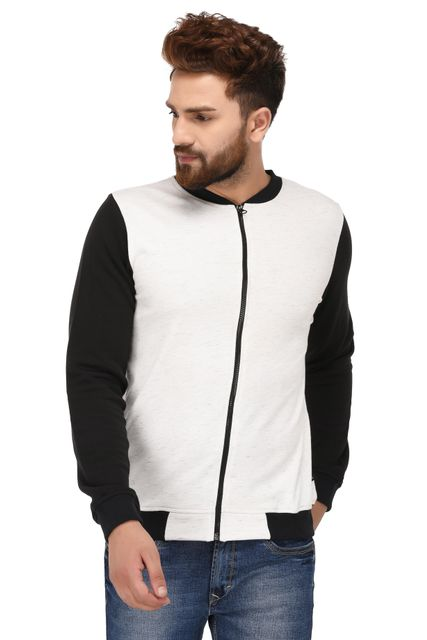 Rigo Black White Cotton Sweatshirt for Men