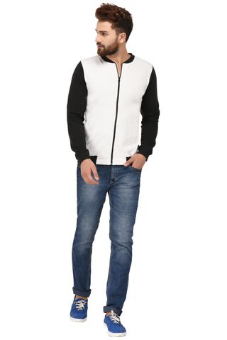 Rigo Black White Cotton Sweatshirt for Men